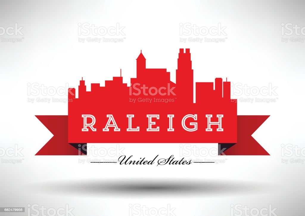 Vector Graphic Design of Raleigh City Skyline royalty-free vector graphic design of raleigh city skyline stock vector art & more images of architecture