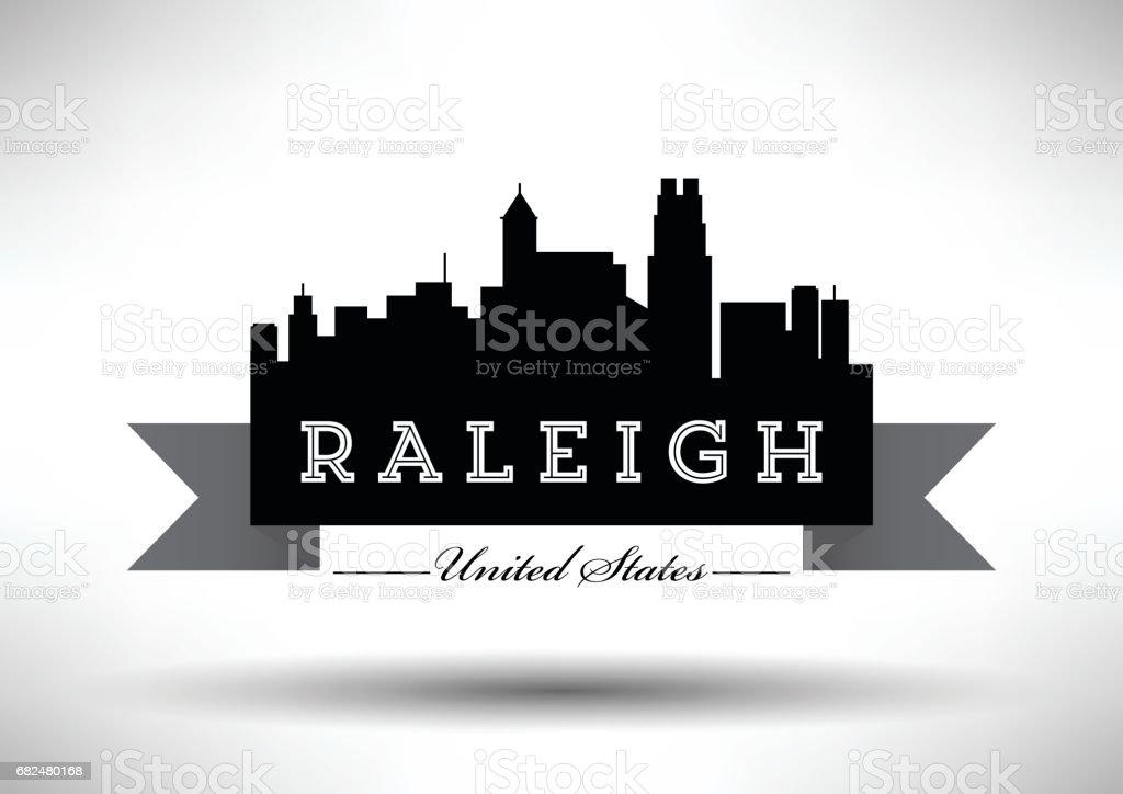 Diseño gráfico vectorial del Skyline de la ciudad de Raleigh ilustración de diseño gráfico vectorial del skyline de la ciudad de raleigh y más banco de imágenes de aire libre libre de derechos