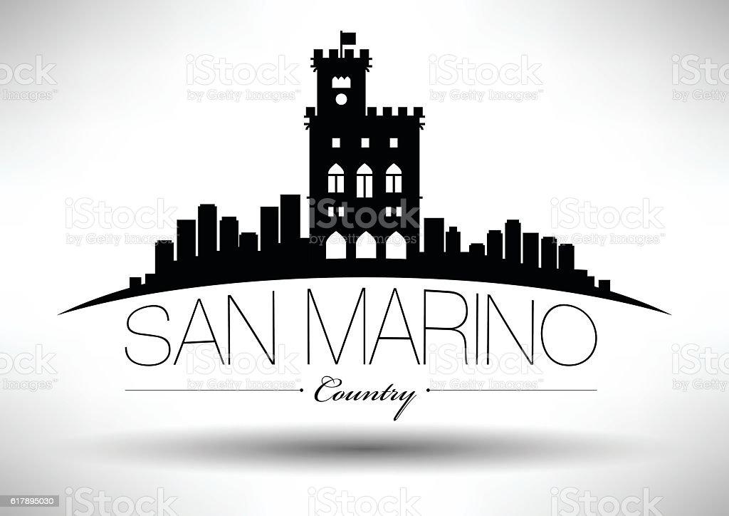 Vector Graphic Design of San Marino City Skyline vector art illustration