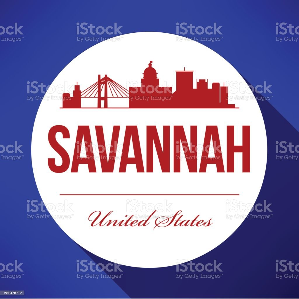 Vector Graphic Design of Savannah City Skyline royalty-free vector graphic design of savannah city skyline stock vector art & more images of architecture