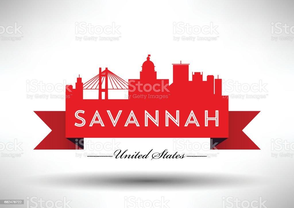 Vector Graphic Design of Savannah City Skyline vector graphic design of savannah city skyline - immagini vettoriali stock e altre immagini di affari royalty-free