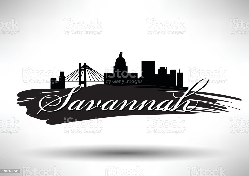 Vector Graphic Design of Savannah City Skyline vector graphic design of savannah city skyline - immagini vettoriali stock e altre immagini di affari royalty-free