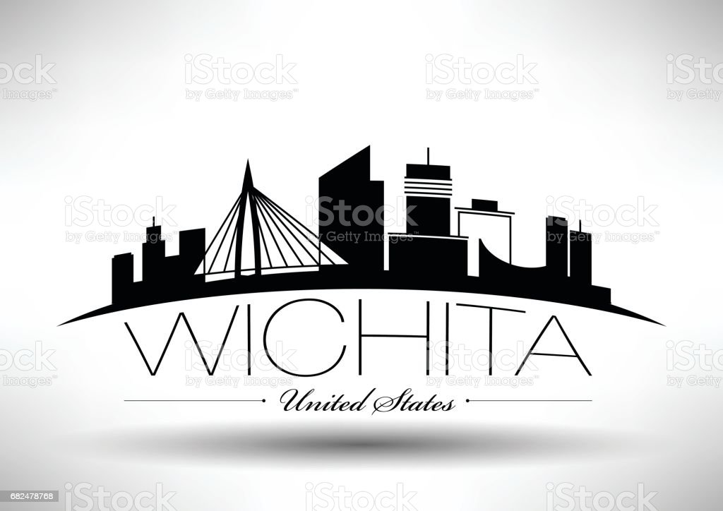 Vector Graphic Design of Wichita City Skyline royalty-free vector graphic design of wichita city skyline stock vector art & more images of architecture