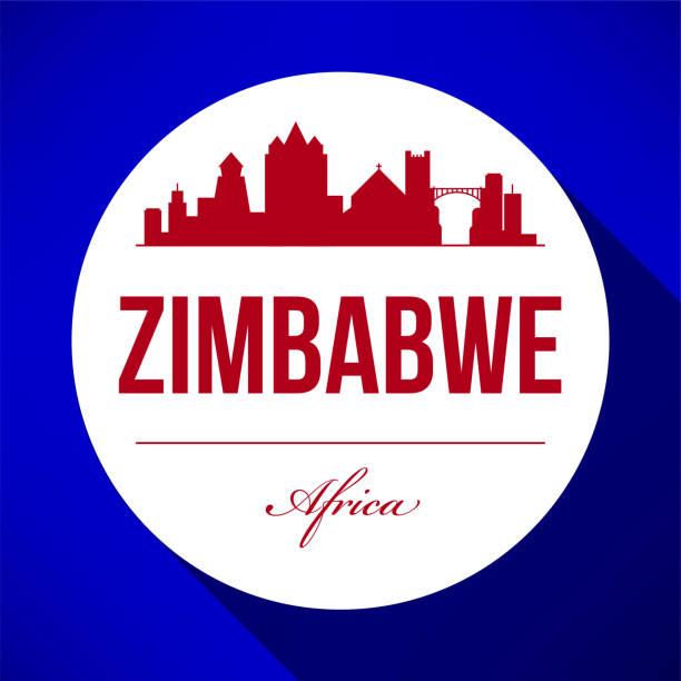 vektor-grafik-design von simbabwe stadt skyline - salisbury stock-grafiken, -clipart, -cartoons und -symbole