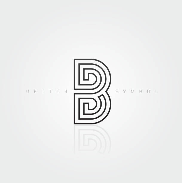 Vektorgrafik elegante und kreative Linie alphabet-Buchstabe B – Vektorgrafik