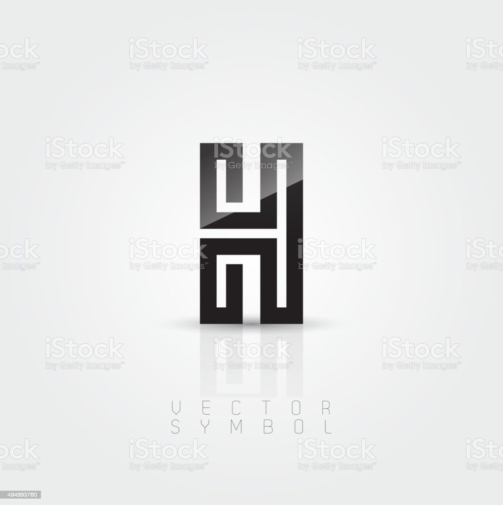 Vector Graphic Elegant And Creative Line Alphabet Letter H ...