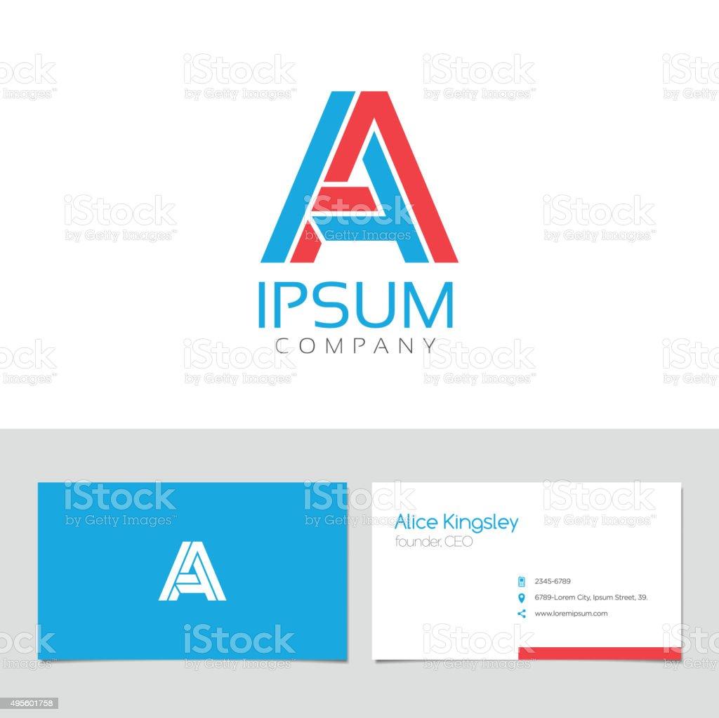 Vector graphic elegant impossible alphabet symbol A vektör sanat illüstrasyonu