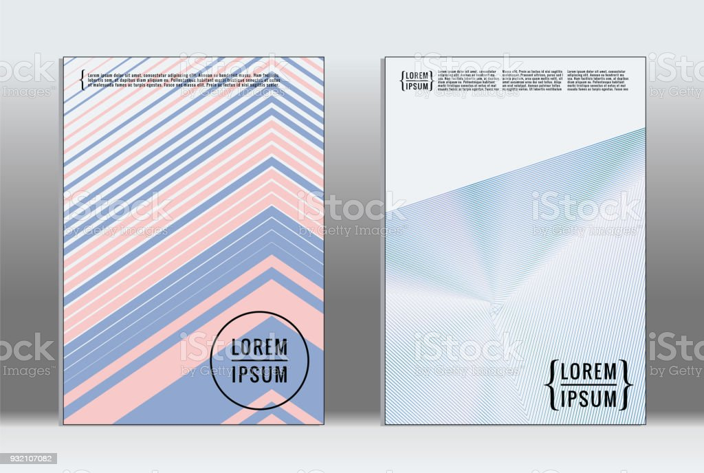 Vector graphic geometric covers. vector art illustration