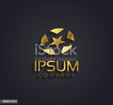 Vector Graphic Golden Star Symbol For Your Company Stock Vector Art