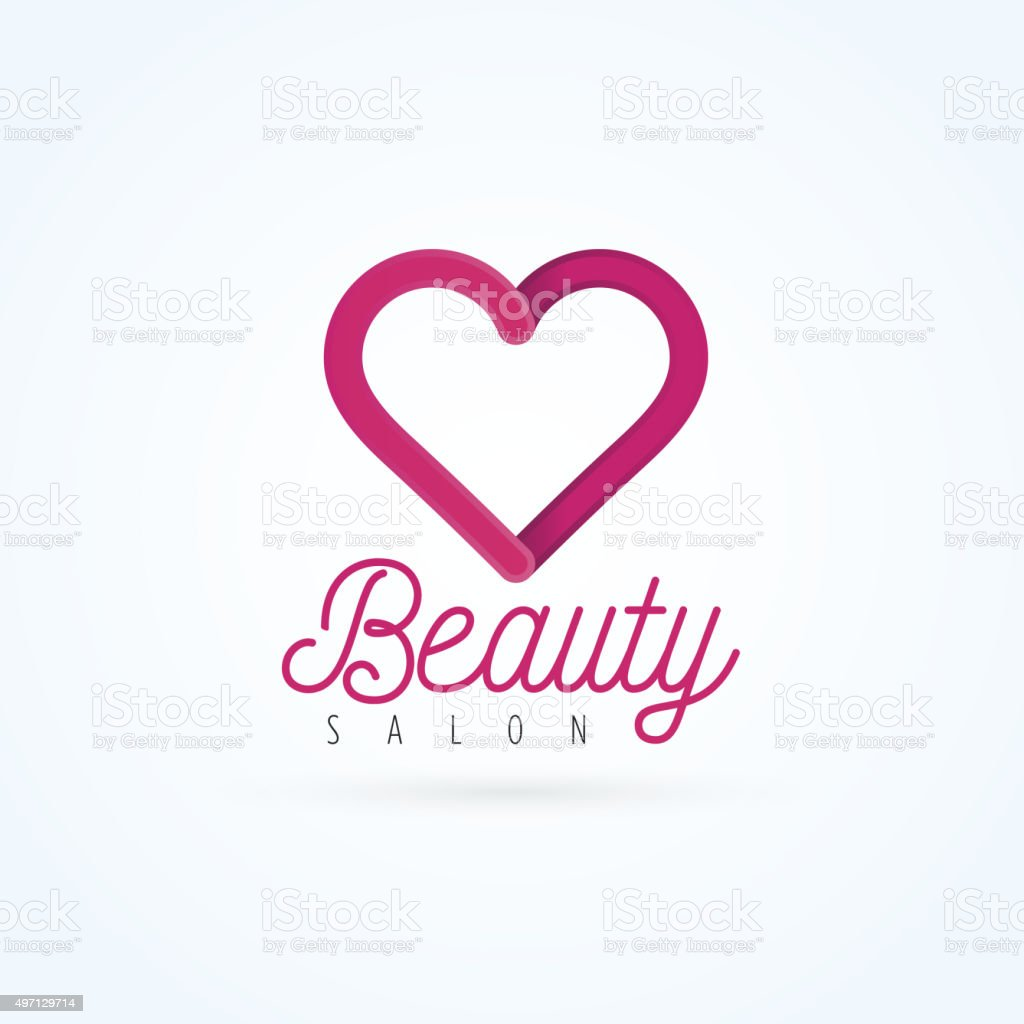 Vector Graphic Heart Symbol With Sample Text Stock Vector Art