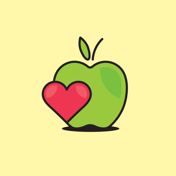 Royalty Free Heart Shaped Apple Clip Art, Vector Images ...