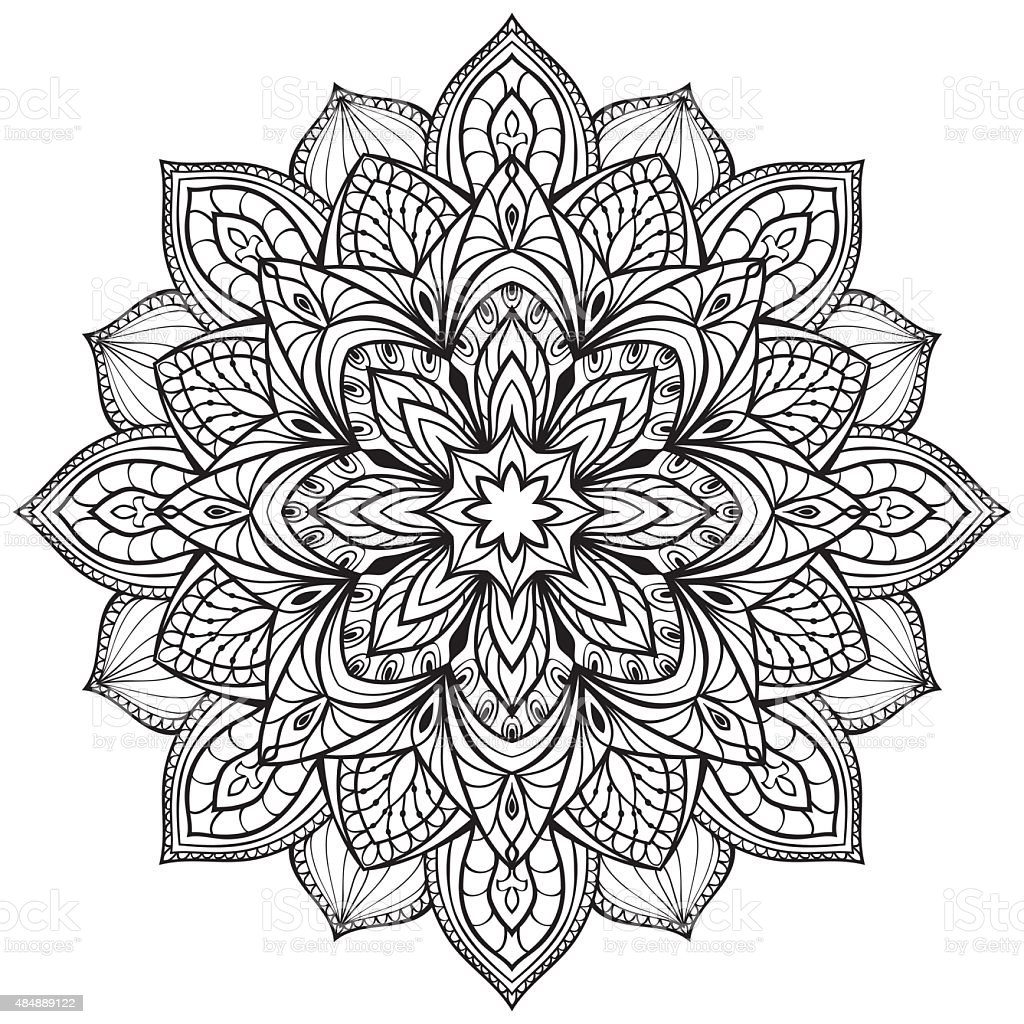 Vector Graphic Mandala Stock Vector Art & More Images of ...