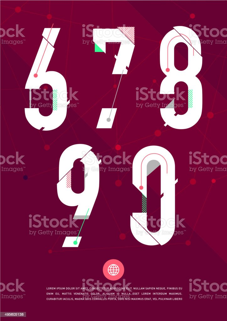 Vector Graphic Numbers In A Set
