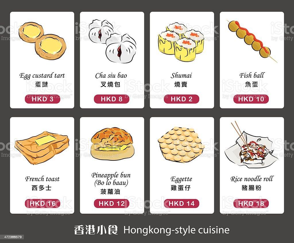 Vector graphic of Hongkong-style cuisine vector art illustration