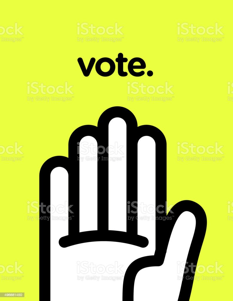 Vector graphic poster of voting with cool and modern design vector art illustration