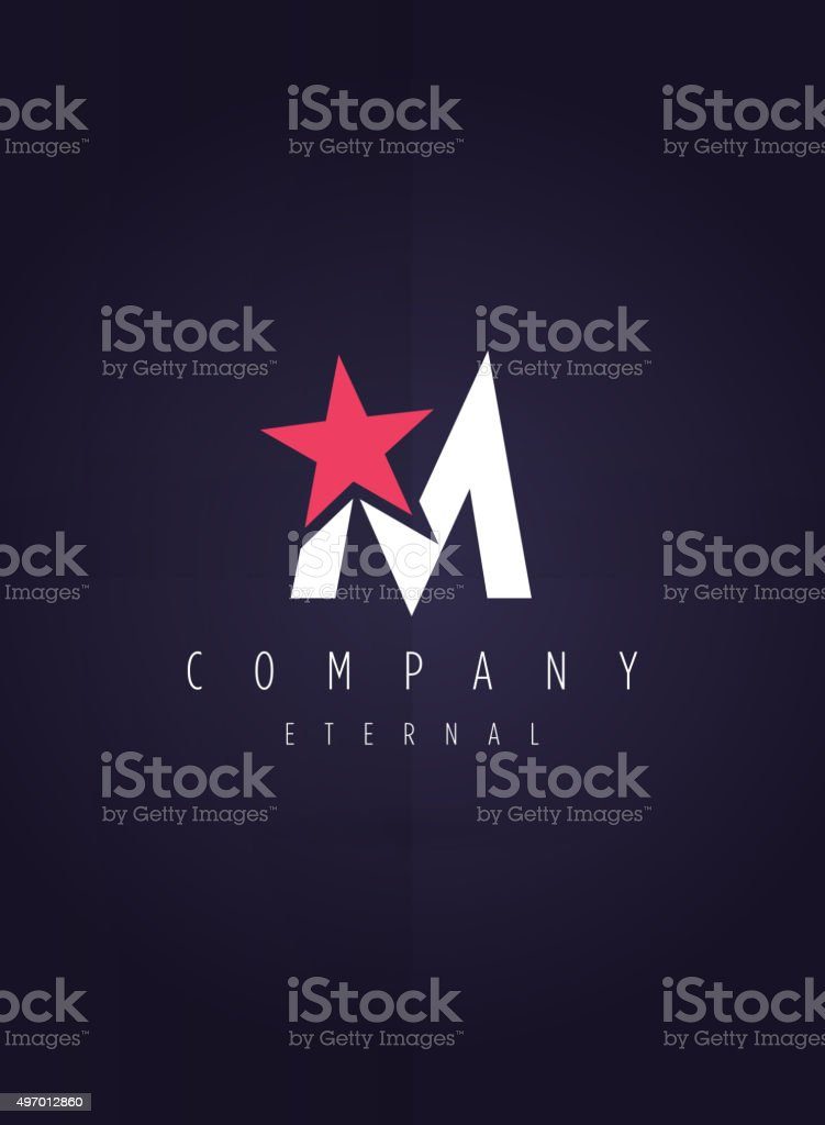 Vector graphic symbol with stylized star vector art illustration