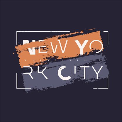 Vector graphic t-shirt design, poster, print on the theme of New York City