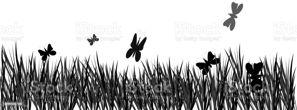 Vector grass and butterflies royalty-free vector grass and butterflies stock vector art & more images of agriculture