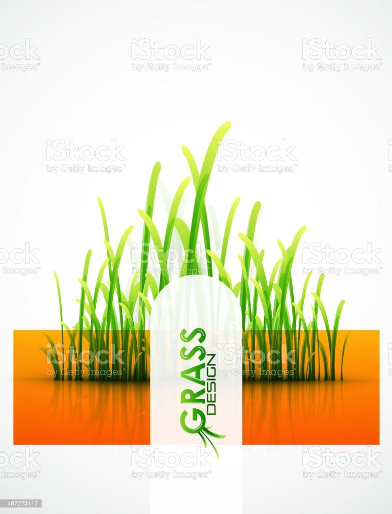 Vector grass background royalty-free stock vector art