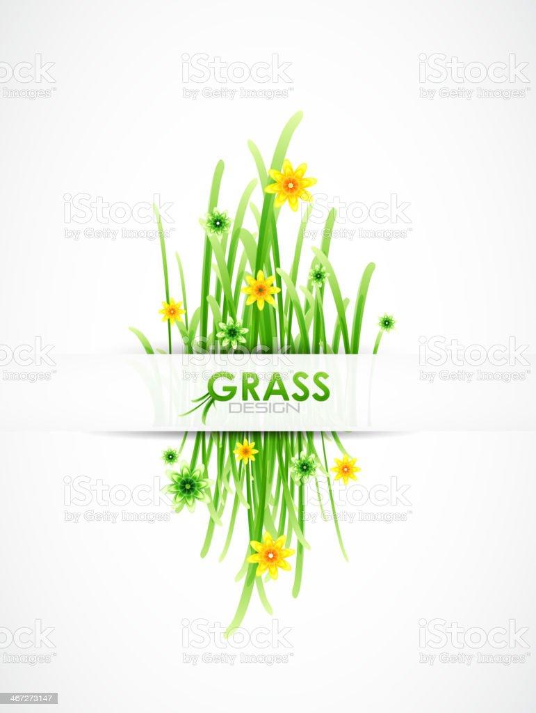 Vector grass background vector art illustration