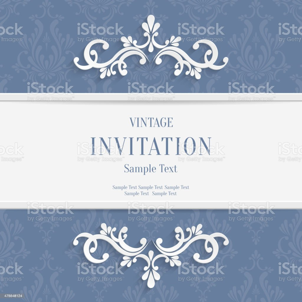 Vector Gray Floral 3d Christmas And Invitation Cards