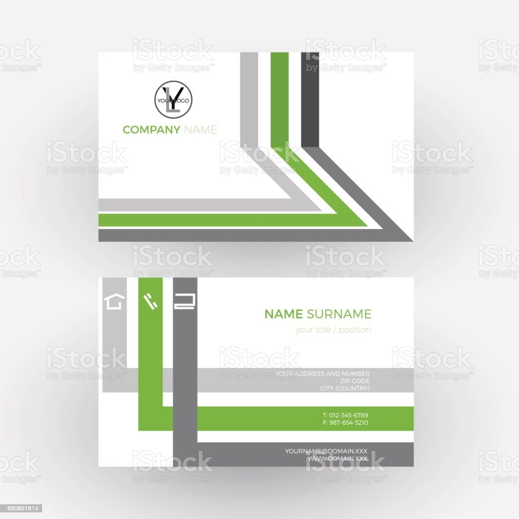 Ilustrao de vector green abstract geometric background business vector green abstract geometric background business card ilustrao de vector green abstract geometric background business reheart Images