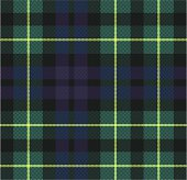 Vector Green and Blue Plaid Fabric