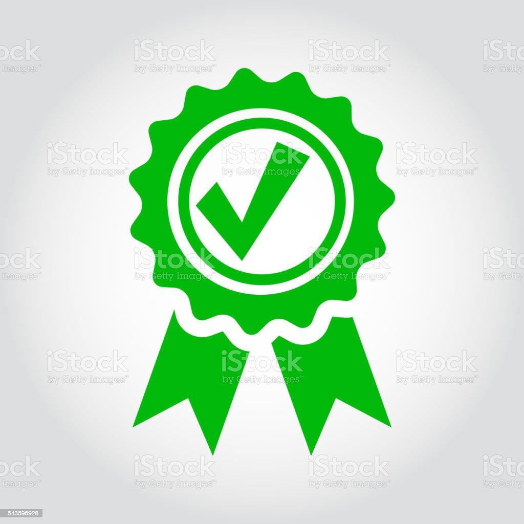 Vettoriale icona verde approvato certificato - illustrazione arte vettoriale