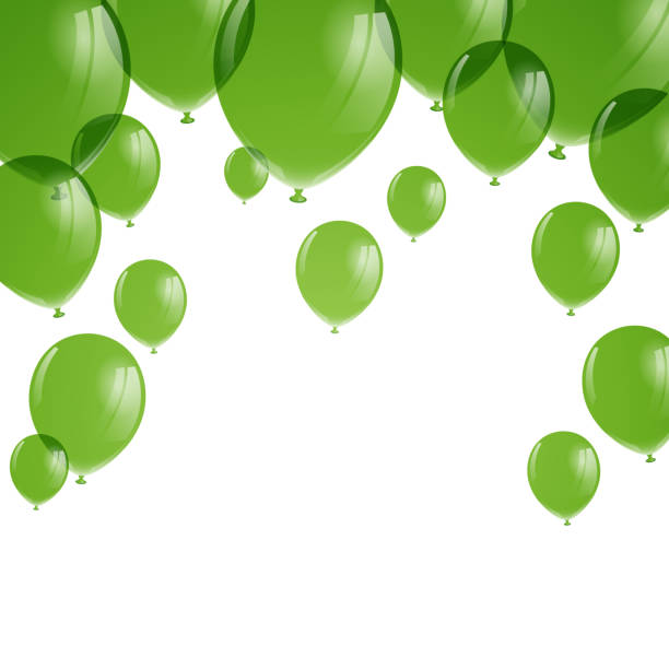 Best Green Balloon Illustrations, Royalty-Free Vector ...