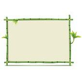 Vector Green Bamboo Frame