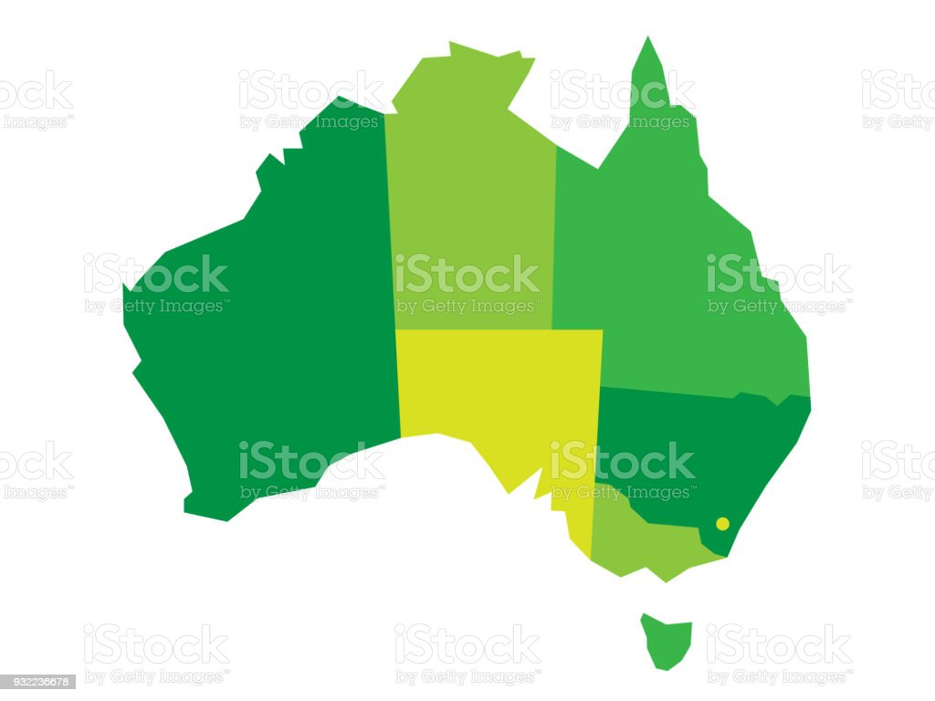 Vector green blank map of australia stock vector art more images vector green blank map of australia royalty free vector green blank map of australia stock gumiabroncs Gallery