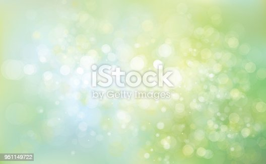 Vector green blue background, spring background.