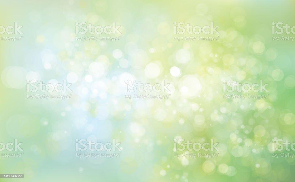 ベクトル緑青い背景。 ベクターアートイラスト