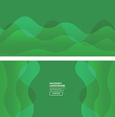Vector green curve background