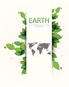 Green and white Earth background.