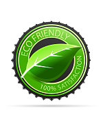 Vector green eco friendly tags