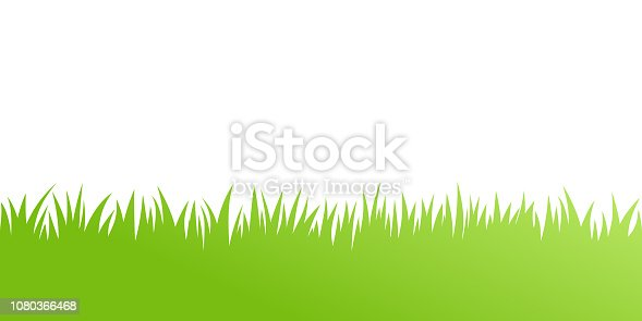 Vector green grass: natural, organic, bio, eco label and shape on white background