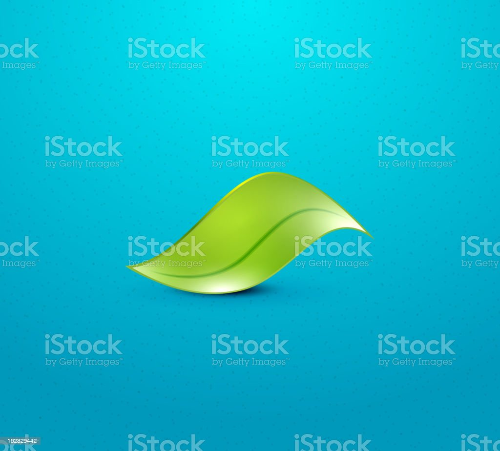 Vector green leaf icon royalty-free stock vector art