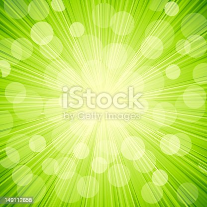 Vector illustration green light  abstract  background
