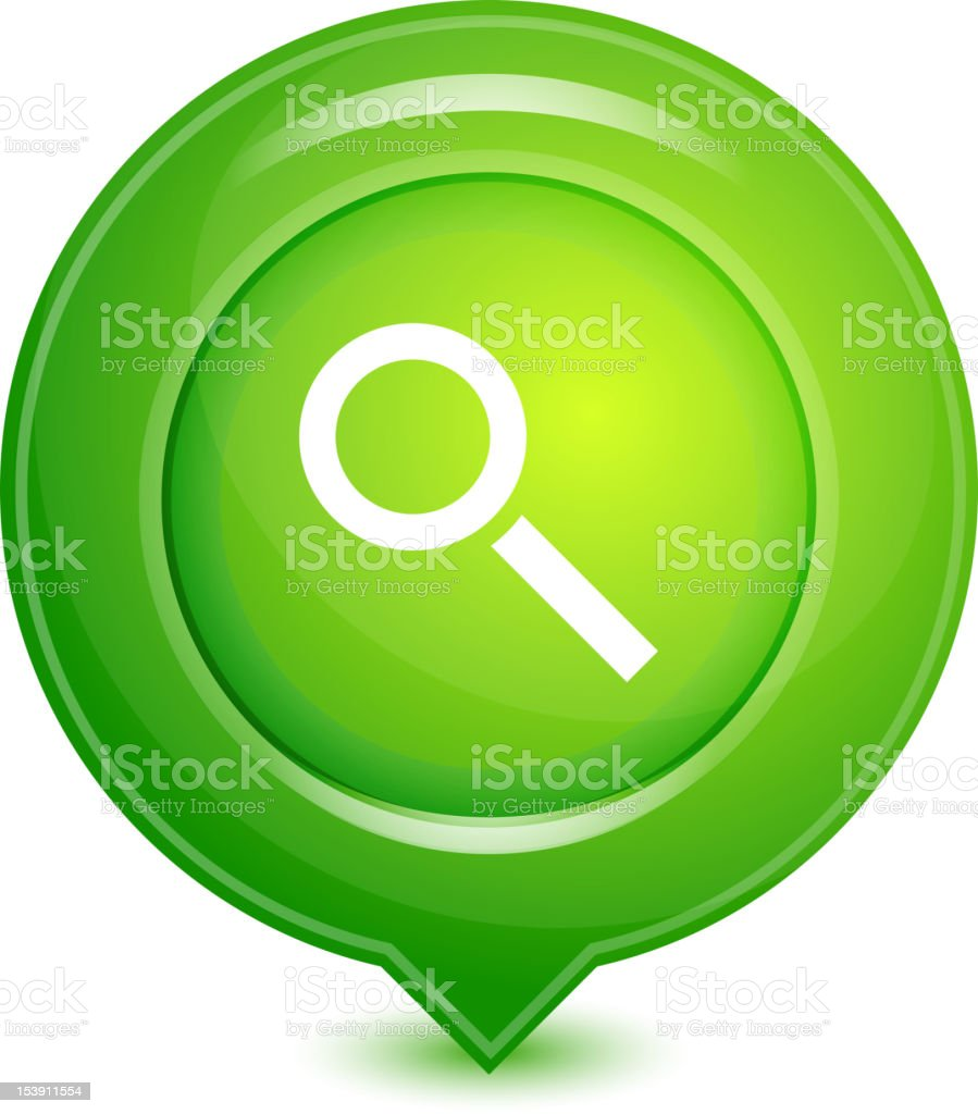 Vector green location pointer royalty-free stock vector art
