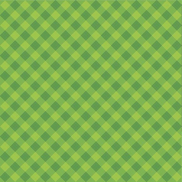 ilustrações de stock, clip art, desenhos animados e ícones de vector verde de tecido xadrez escocês - christmas table