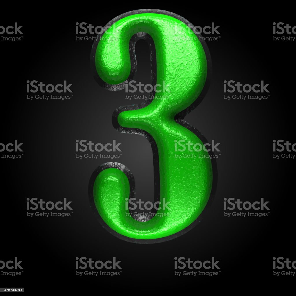 vector green plastic figure 3 royalty-free vector green plastic figure 3 stock vector art & more images of alphabet