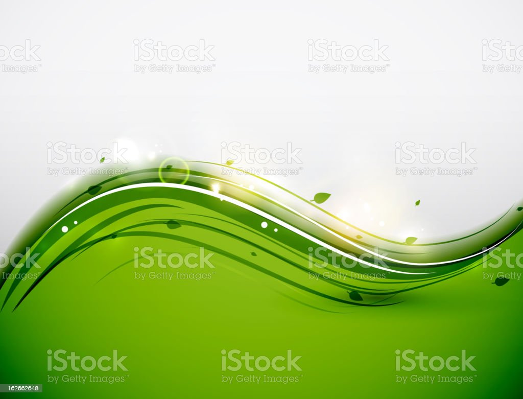 Vector green shiny line background vector art illustration