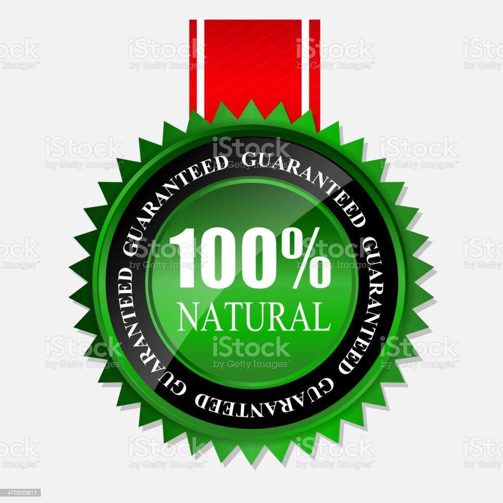 Vector green sign, label template royalty-free stock vector art
