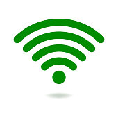 Vector green Wifi symbol icon