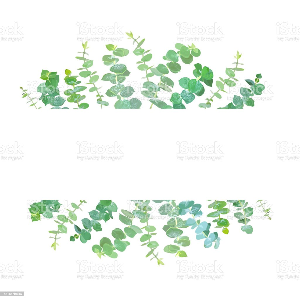 Vector Greenery Illustration For Rustic Simple Wedding Design Royalty Free