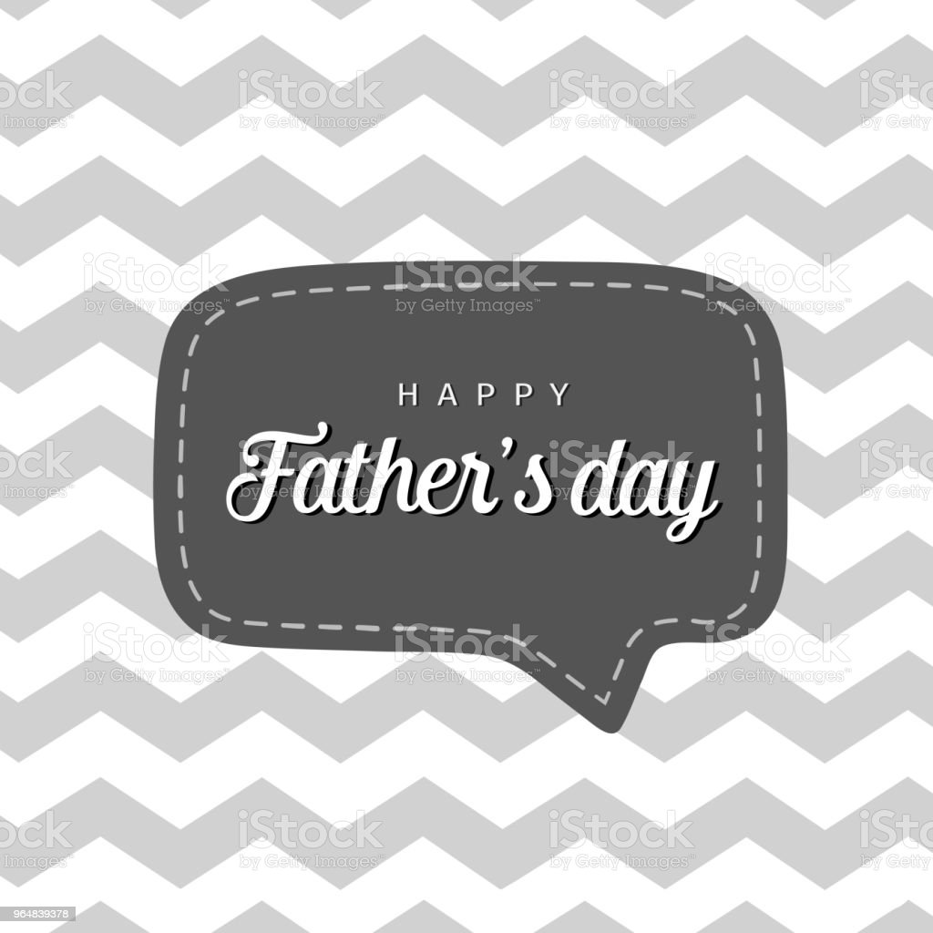 Vector greeting card for Father's day. Card with speech bubble and geometric pattern. royalty-free vector greeting card for fathers day card with speech bubble and geometric pattern stock vector art & more images of abstract