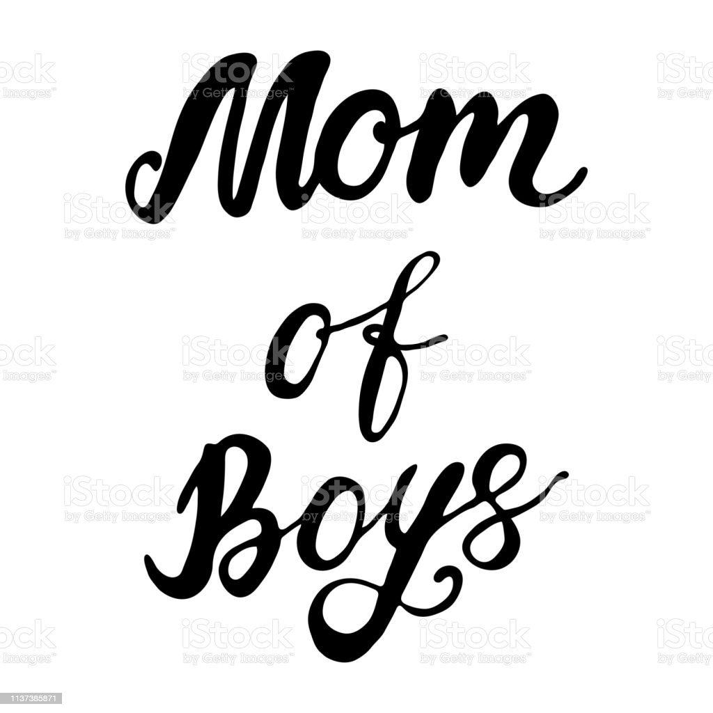 Vector Greeting Card For Gift Tag Decor Mom Of Boys Stock Illustration Download Image Now Istock