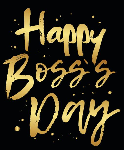 Royalty free boss day drawings clip art vector images vector greeting card happy boss day vector art illustration m4hsunfo