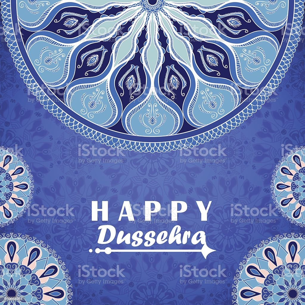 Vector greeting card to indian festival vijayadashami happy dussehra vector greeting card to indian festival vijayadashami happy dussehra royalty free stock vector art m4hsunfo